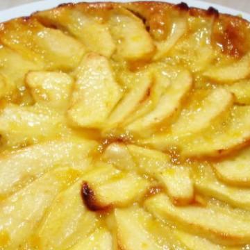 receta, manzana, tarta