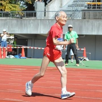 corredor, maraton, ansiano, record