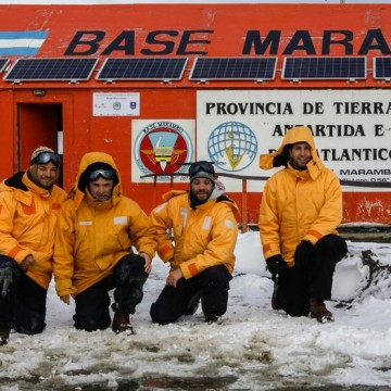 Base Marambio, nieve, Antártida