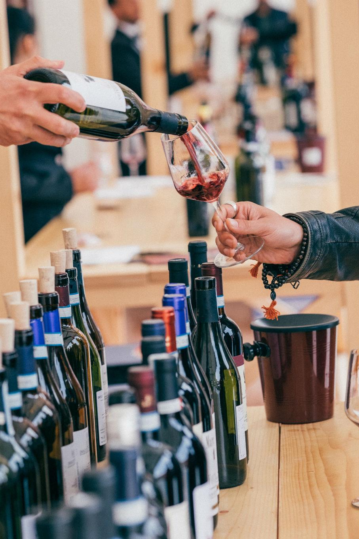 vino, feria, productores