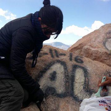 Jujuy, cerro Chañi, graffiti