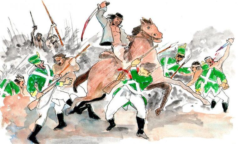 Resultado de imagen para batalla de apostoles 1817