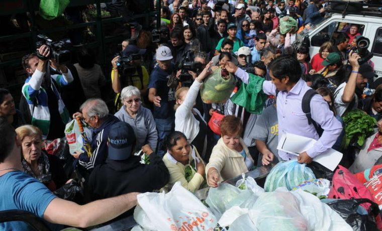 verdura, Plaza de Mayo, productores