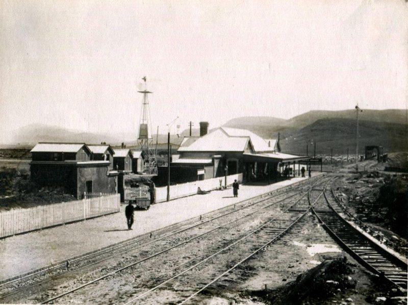 La estación de Sierra de la Ventana en el año 1903